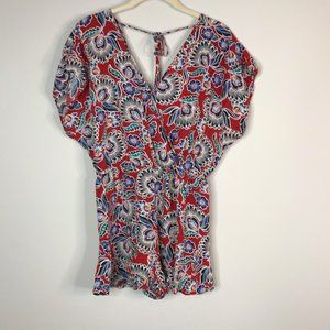 Band of Gypsies red floral romper